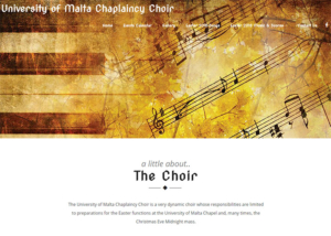 University of Malta Chaplaincy Choir Website